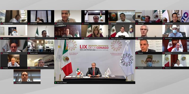 Sesión Virtual de la LIX Reunión Ordinaria de la Conferencia Nacional de Gobernadores