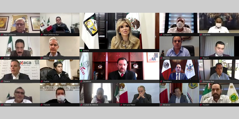 Sesión Virtual de la LX Reunión Ordinaria de la Conferencia Nacional de Gobernadores